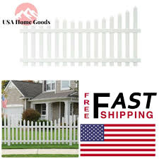 Veranda Vinyl Scalloped Top Spaced Picket Fence Panel 4 Ft H X 8 Ft W White For Sale Online Ebay