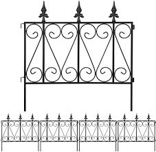 Amazon Com Amagabeli Garden Fence Rustproof Metal Wire Fencing 24inx10ft Outdoor Landscape Decorative Border Edge Section Edging Decor Picket Black Folding Wire Patio Fences Flower Bed Animal Dogs Barrier Fc03 Garden