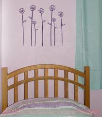 Doodle Roses And Stems Flower Wall Decals Girl Room Vinyl Sticker Art