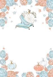 Glitter Cinderella Birthday Invitation Template Free En 2020