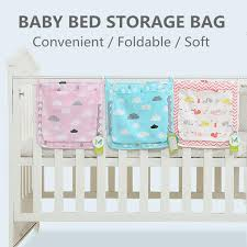 soft baby bed diapers hanging storage
