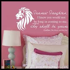 Dearest Daughter Joy Shall Be Yours Aslan Narnia Cs Lewis Vinyl Wa Decal Drama