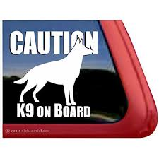 Amazon Com Caution K9 Onboard German Shepherd Vinyl Window Decal Sticker Automotive