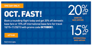 off base fare with promo code