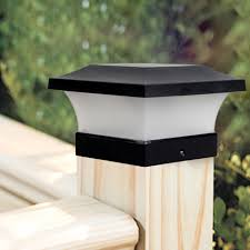 Solar Waterproof Led Post Cap Lights Outdoor Column Headlight Pillar Fence Post Lights Decoration Wk Solar Lamps Aliexpress