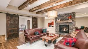 finished basements that have a fireplace