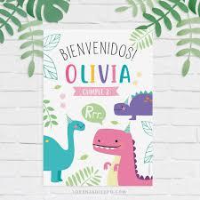 Kit Imprimible Dinosaurios Nena Lorenza Diseno