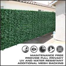 Fake Ivy Roll Artificial Hedge Panel Roll With Shade Cloth Backing 3m X 1m For Instant