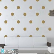 Gold Polka Dot Vinyl Wall Decal Gold Dot Decal Teen Gold Decor Baby Decor Ebay