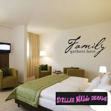 Family Gathers Here Family And Friends Wall Decals Wall Quotes Wall Murals Fa017familygathersi Swd