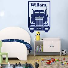Amazon Com Wall Stickers Murals Truck Vehicle Wall Decal Boy Room Kids Room Personalized Truck Car Lorry Wall Sticker Playroom Vinyl Art 65x46cm Kitchen Dining