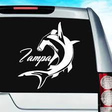 Tampa Florida Hammerhead Shark Vinyl Car Window Decal Sticker