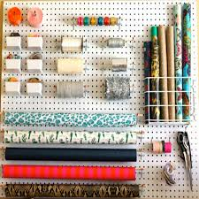 gift wrap storage by leopard plaid