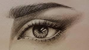 تعليم الرسم بالرصاص كيف ترسم العين والرموش والحواجب للمستوى