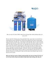 Công dụng của máy lọc nước ro ohido 6 lõi lọc trong lọc nước gia đình by  hiếu nguyễn via slideshare