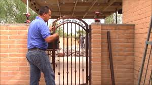 How To Measure And Install Your New Wrought Iron Gate Youtube