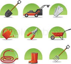 web icons garden tools stock vector