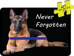 German Shepherd Thin Blue Line Police Dog K9 Unit Vinyl Window Decal Sticker