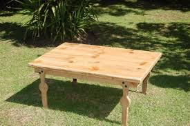 handcrafted oregon pine coffee table