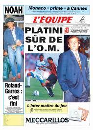 Prima pagina de L'Équipe del 22 maggio 1991