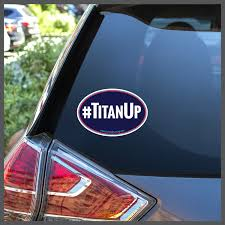 Nfl Tennessee Titans Titanup Decal Or Car Magnet