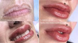 lip blushing tattoo treatment darkens
