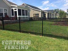 Fortress Fencing Llc Fa 5 Style Double Picket Aluminum Fencing In Black Great For Containing Small Dogs Aluminum Fencing Aluminum Fence Fence Options
