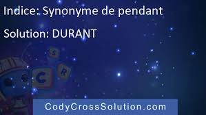 synonyme de pendant solution