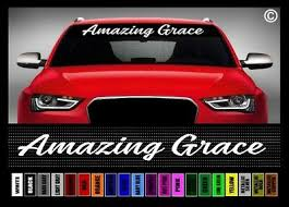 40 Amazing Grace 2 Jesus Cross Christian Car Decal Sticker Windshield Banner Ebay