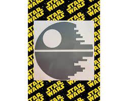 Glow In The Dark Star Wars Death Star Vinyl Decal Death Star Etsy