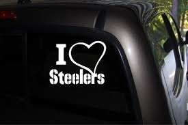 Pittsburgh Steelers Decal I Love Heart Fans Nfl Football Terrible Towel Auto Vinyl Sticker Decal For Car Truck Suv Window 5 Quot X 5 Quot Wish