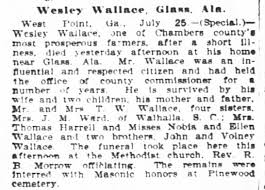 1907 wesley wallace...father of john wallace.. - Newspapers.com