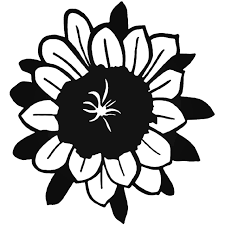 Sunflower Ying Yang Vinyl Decal Sticker