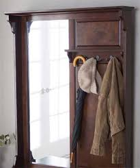 antique hall tree with mirror pros