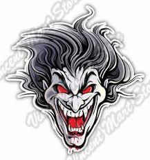 Evil Man Face Devil Vampire Dracula Smiling Car Bumper Vinyl Sticker Decal 4 X5 Ebay