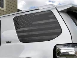Product Toyota 4runner American Flag Side Quarter Window Decal Fits 2010 2017 5th Gen