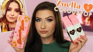 zoella x colourpop brunch date