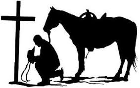 Free Cowboy And Cross Silhouette Download Free Clip Art Free Clip Art On Clipart Library