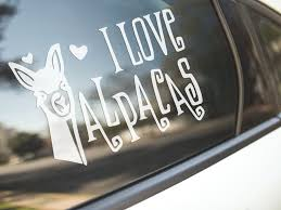 Car Sticker I Love Alpacas Bumper Decal Alpaca Llama Farm Pets Cute Made Aus Thenakedbike In 2020 Farm Stickers Tumbler Decal Vinyl Decals