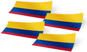 Colombia Country Flag Car Bumper Decal Sticker Rainbowlands Lk