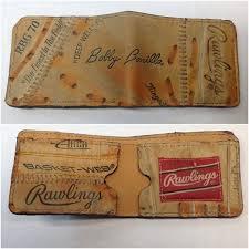 repurposed baseball glove wallet by