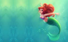 hd wallpaper the little mermaid ariel