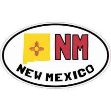 5in X 3in Oval Nm New Mexico Sticker Car Truck Bumper Decal Cup Stickers Walmart Com Walmart Com