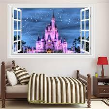 3d Generic Windows Disney Land Princess Girl Kid Castle Wall Decal Decor Sticker Wish
