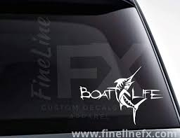 Boat Life Swordfish Vinyl Decal Sticker