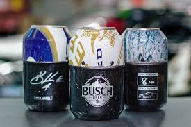 busch made beer cans out of a race car