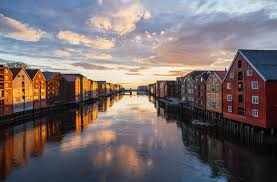 the historic town of trondheim fjord