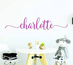 Amazon Com Name Stickers Name Wall Decals Name Decals For Girls Custom Wall Decal Personalized Name Wall Decals Handmade