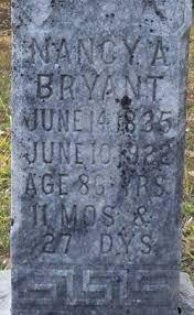 Nancy Adeline Kilpatrick Bryant (1835-1922) - Find A Grave Memorial