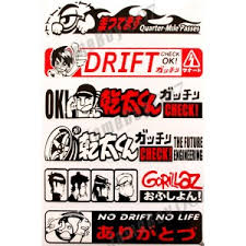 Mrs0015 Mix Stickers Decals Gorillaz Gang Japanese Drift Car Racing Tuning Kit Moto Racing Stickers Shop